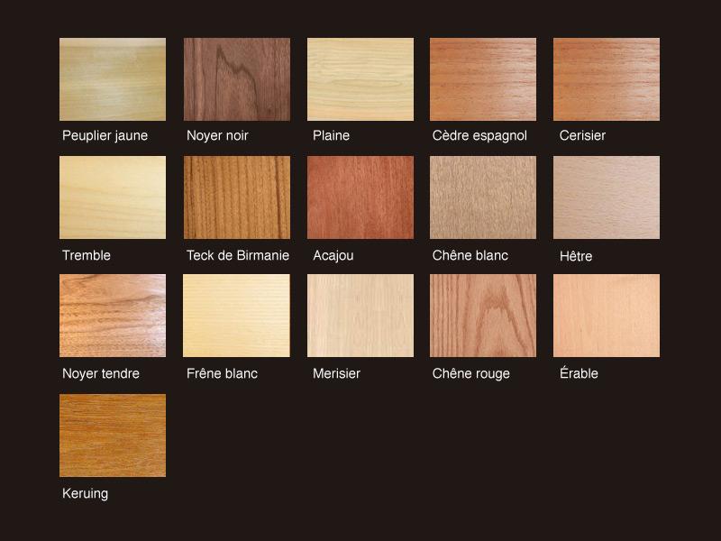 Bois franc brut entreprise li ma co inc for Different type de bois pour meuble